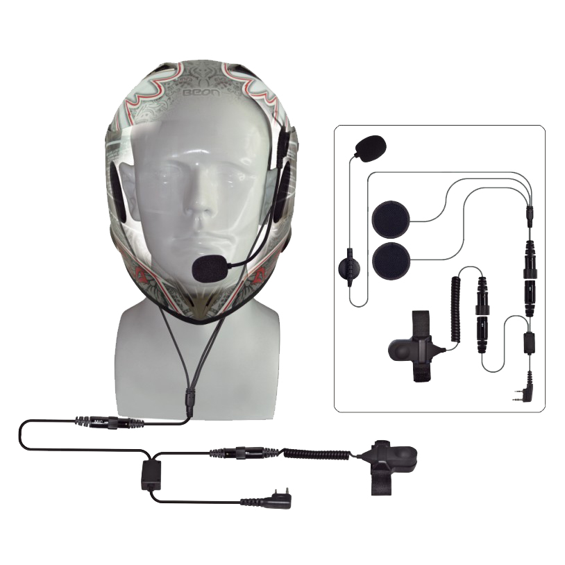 helmet headset for two way radio, walkie talkie helmet headset, motocycle headset two way radio