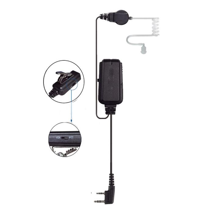 two way radio headset, walkie talkie earpiece, Motorola radio headphone, kenwood walkie talkie headset